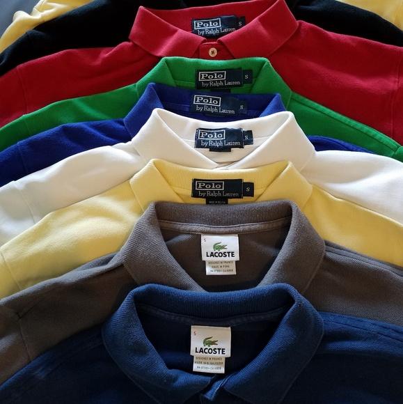 b98e6bb7f81 10 Polos - Ralph Lauren and Lacoste. M 5b458813a31c334e39b166ff